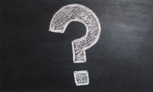 question mark. counselling FAQ